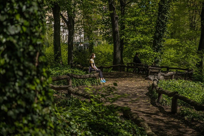 """Central Park has been a place of refuge when we need space, nature, and exercise. When I'm stressed, I know I can find respite and renewal there."" Source: Social @korumedspa Photo credit: Central Park Conservancy"