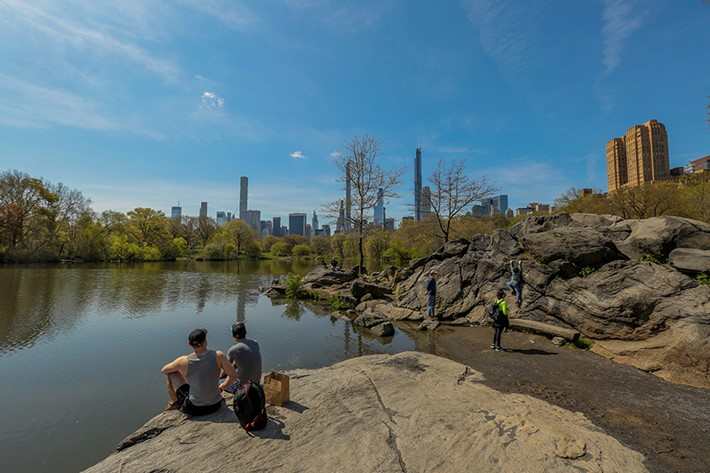 """When I think back on this time, I'll always remember that when everything else fell away, #MyCentralPark remained.""  Source: Social @christarosenyc Photo credit: Central Park Conservancy"