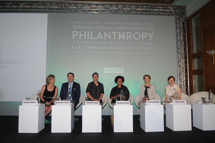 Plenary Session 1: Sustainable Philanthropy: how do we define and measure it, and how do we go about achieving it? - Source: Marilena Katsini