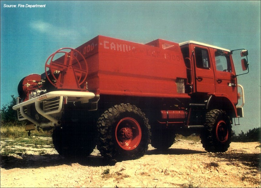 A fire-fighting vehicle