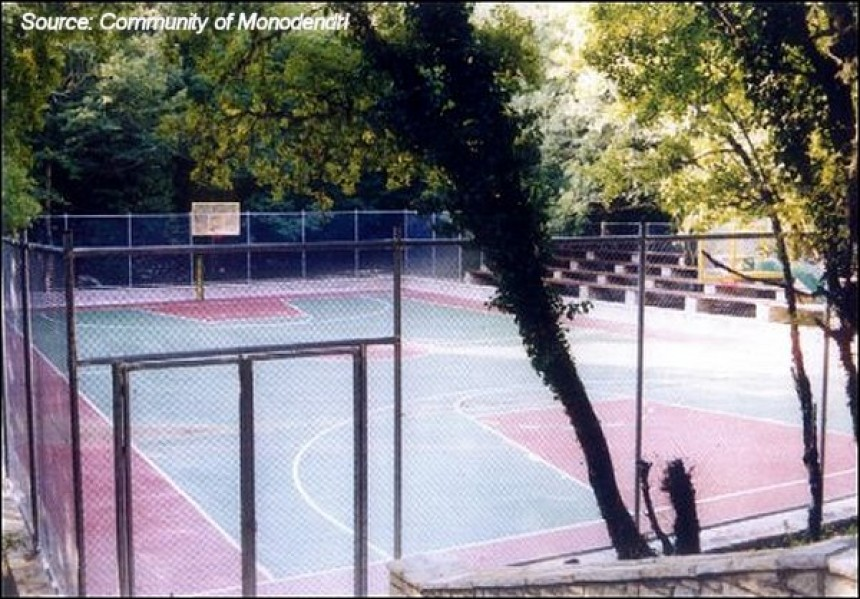 Community of Monodendri - Basketball court