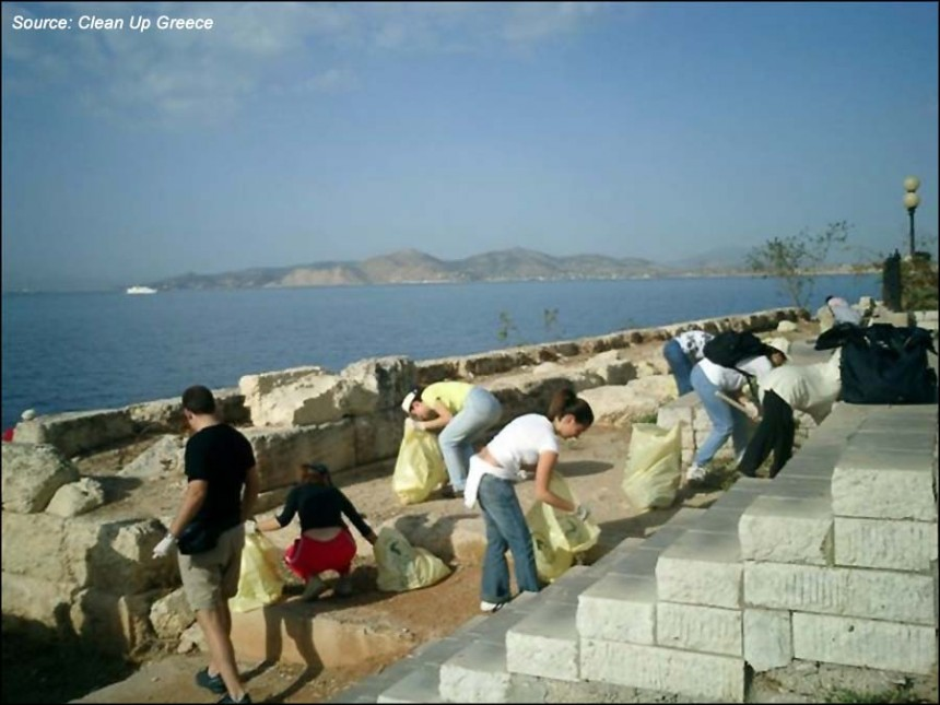 """Clean Up Greece"" in Piraeus"