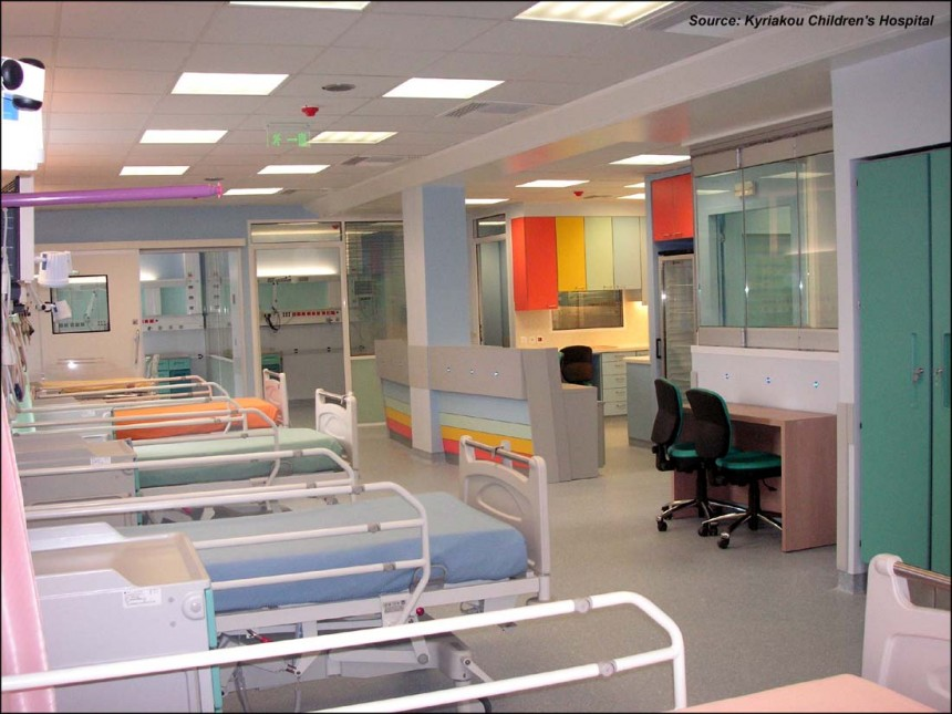 View of the hospital's ICU
