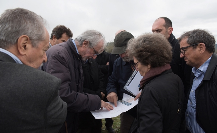 SNF & RPBW representatives at the site where the Thessaloniki Children's Hospital will be constructed / Source: Ilias Ntzoidos