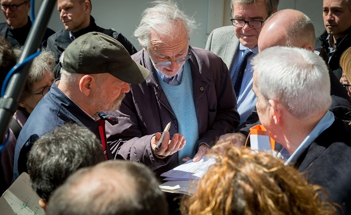 SNF representatives and Renzo Piano at the Evangelismos Hospital/ Source:Ilias Ntzoidos