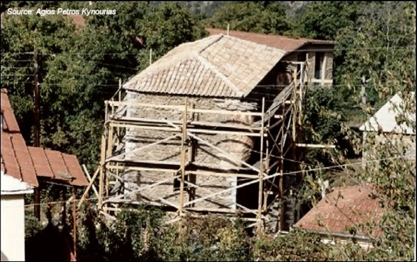 The Trikalitis Tower during the restoration
