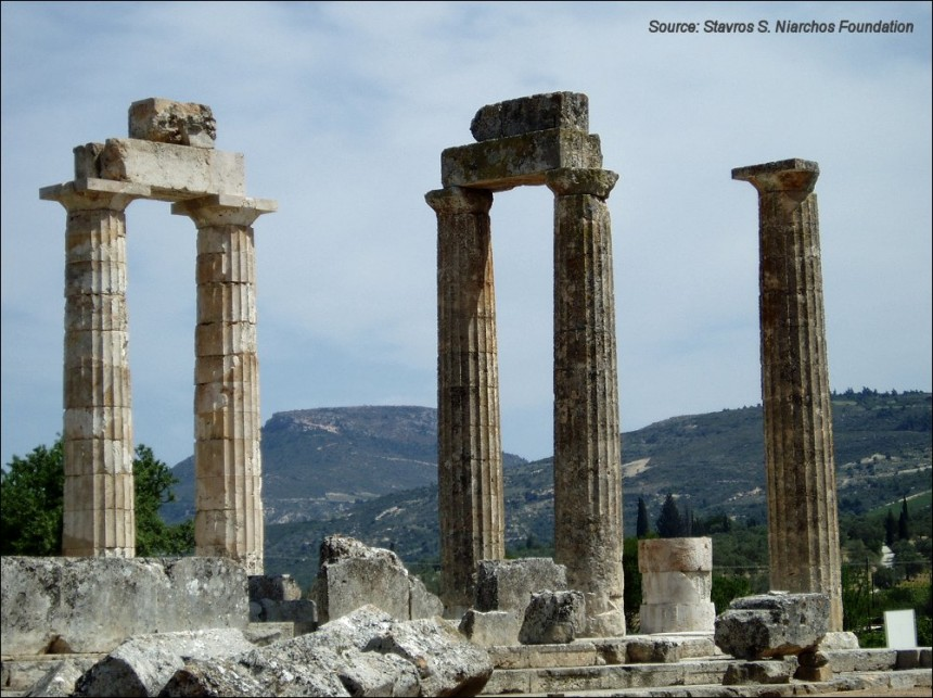 The temple of Zeus at Nemea
