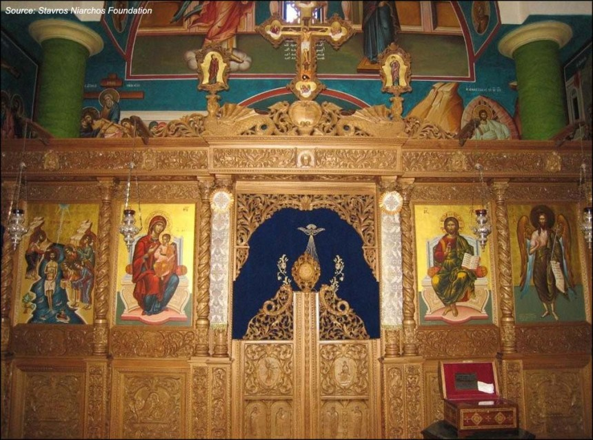 Internal view of the Greek Orthodox church