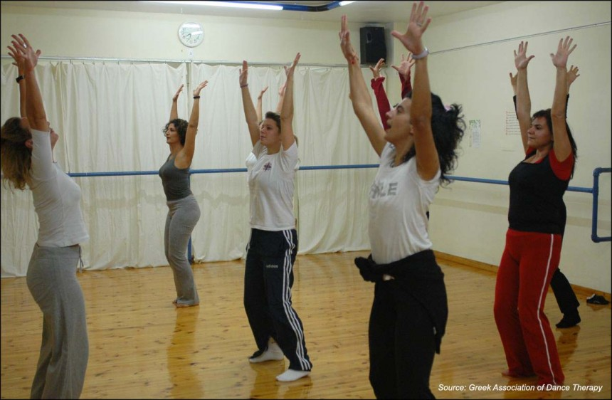 A dance therapy program