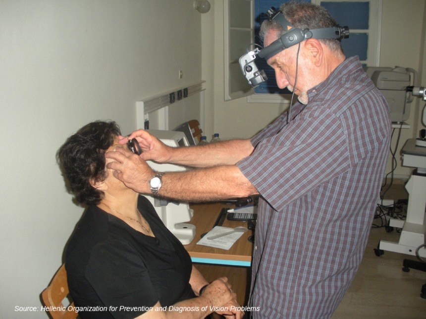 A Mobile Eye Unit visit's in Dodecanese