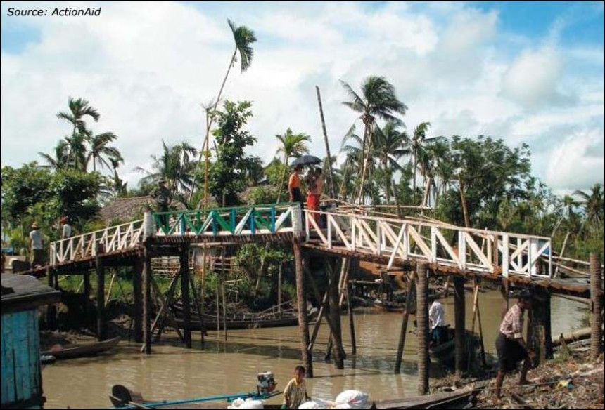 Bridge building in Myanmar (Burma)