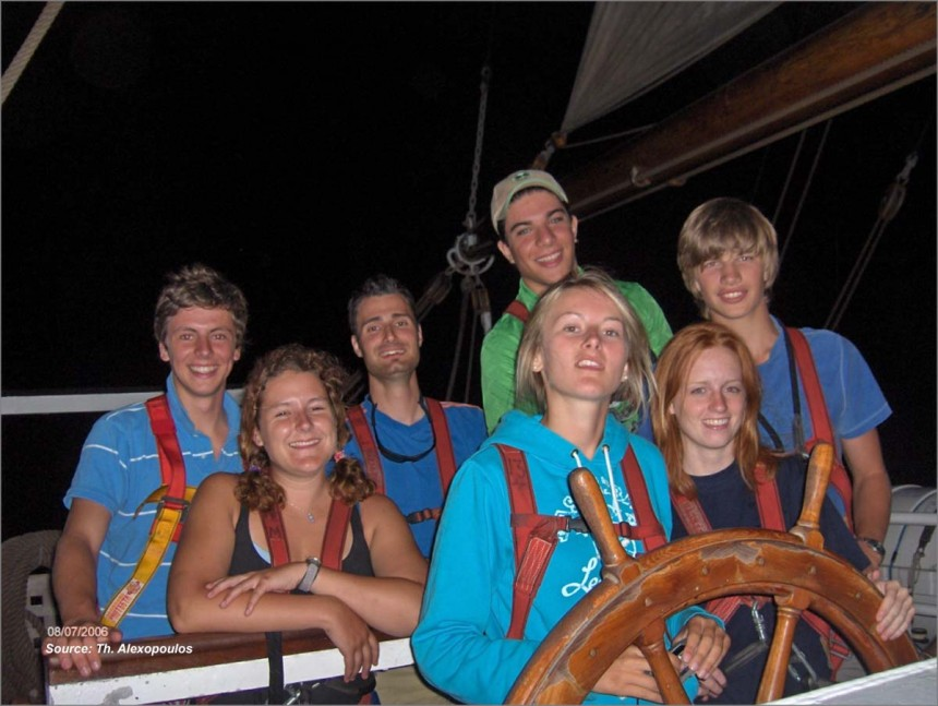 A snap-shot from the Greek students' voyage from Gibraltar to Minorca (August 3-13, 2006)