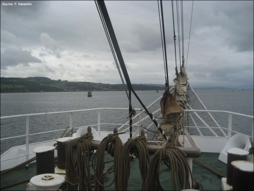A snap-shot from the voyage from Glasgow to Leith (September 14-24, 2007)