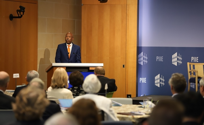 Lesetja Kganyago, Governor of the South African Reserve Bank and chair of the International Monetary and Financial Committee