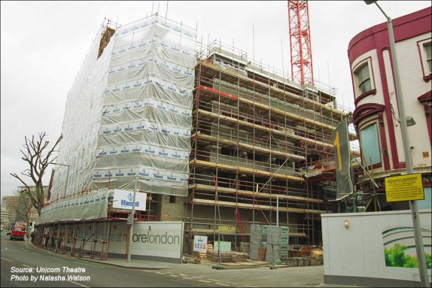 The Unicorn Theatre (during the construction)