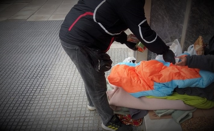 ARSIS's Streetwork team supports people experiencing homelessness in Thessalonik - Source: ARSIS