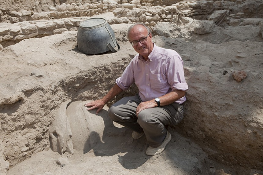 Pictured: Agora excavations director John Camp- Source: Randolph – Macon College