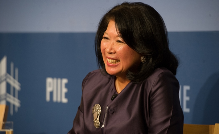 Mari Elka Pangestu, Minister of Tourism and Creative Economy for the Republic of Indonesia - Source: Kaveh Sardari