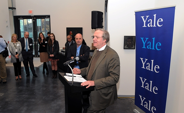 Robert Storr, Dean of Yale School of Art, Andreas Dracopoulos, Co- President of the SNF - Source:Kostas Bej/The National Herald