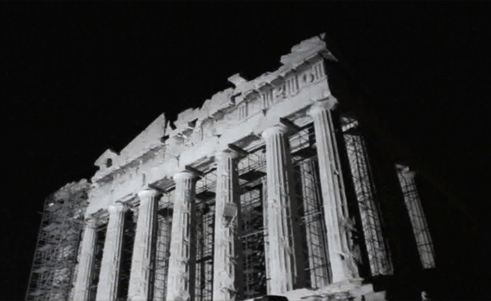 Bill Balaskas, Parthenon Rising (II), 2min 45 sec, 2011,Courtesy Kalfayan Galleries, Athens – Thessaloniki