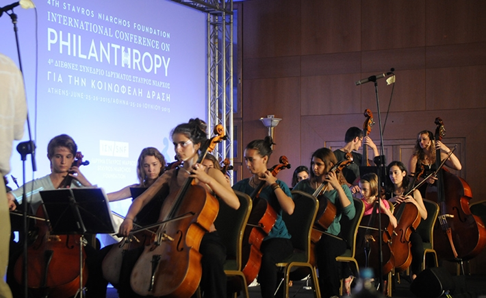Megaro Youth Symphony Orchestra (Thessaloniki Concert Hall) and Underground Youth Orchestra - Source: Marilena Katsini