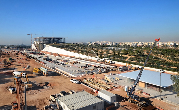 Northeast view of the SNFCC / Source: Yiorgis Yerolymbos