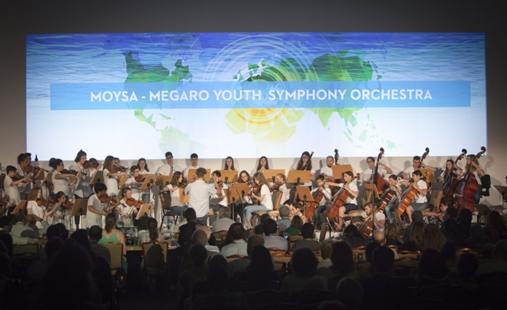 SNF Grantee, The Megaro Youth Symphony Orchestra, performs for the conference participants